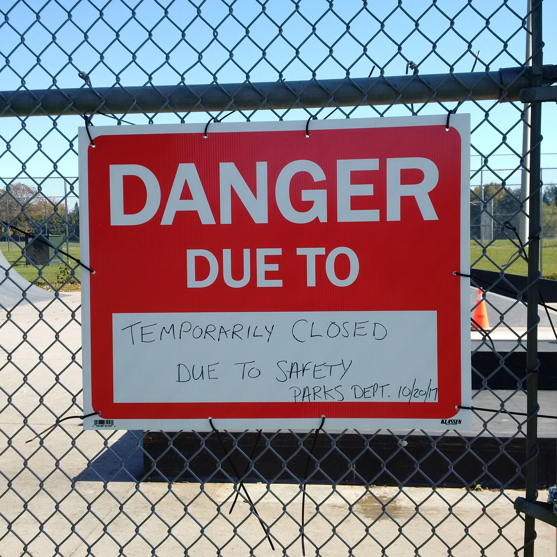 Donegan Park Closed