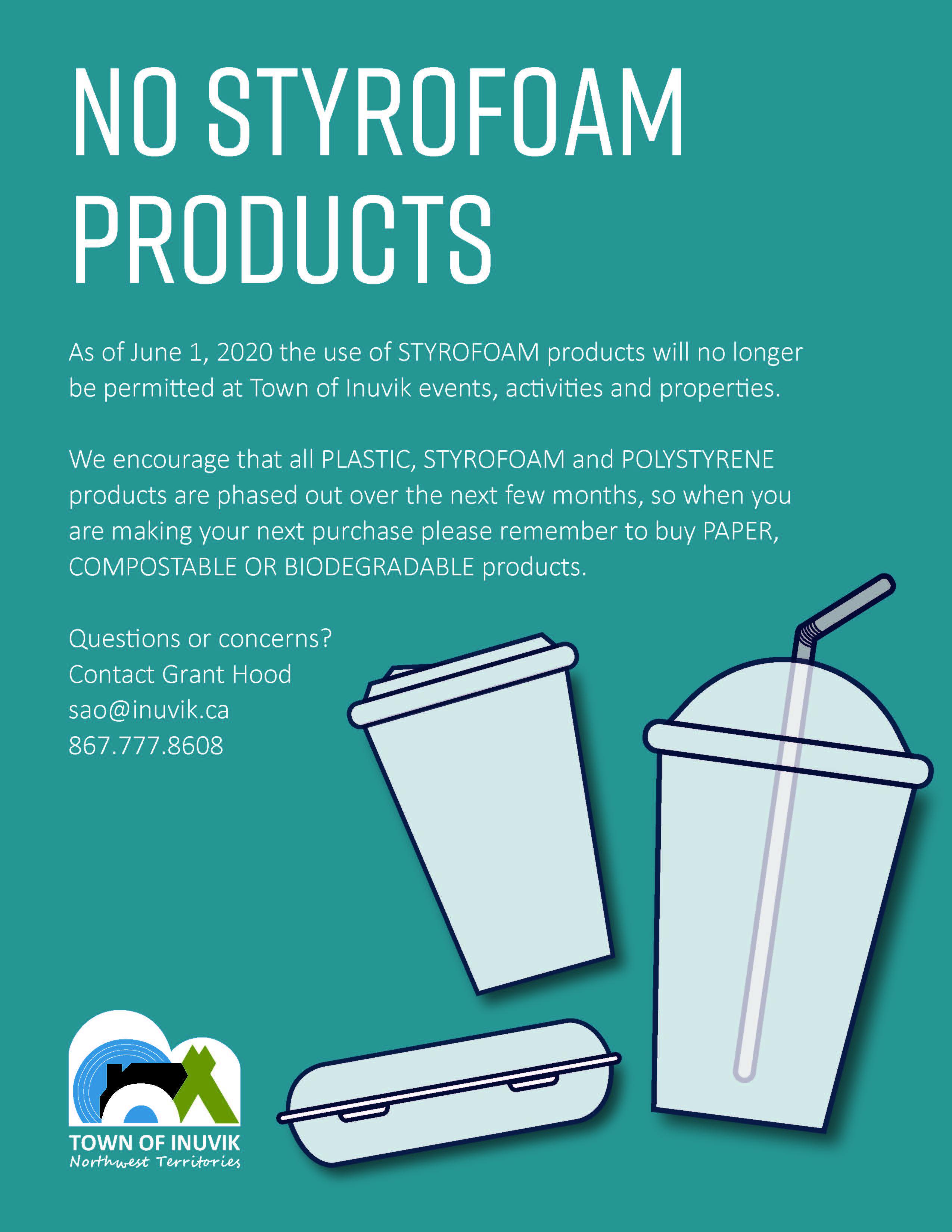 No Styrofoam Products