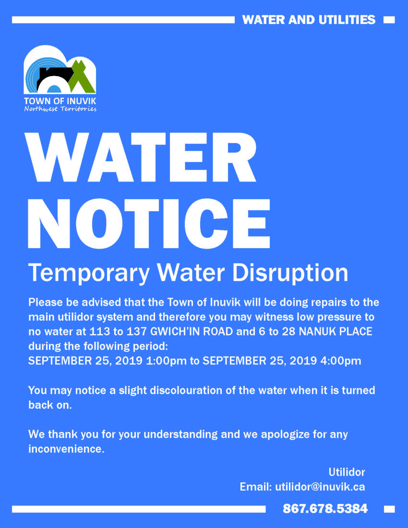 Water Notice September 25