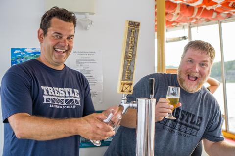 Dave and Chris Trestle Brewing Company co-founders