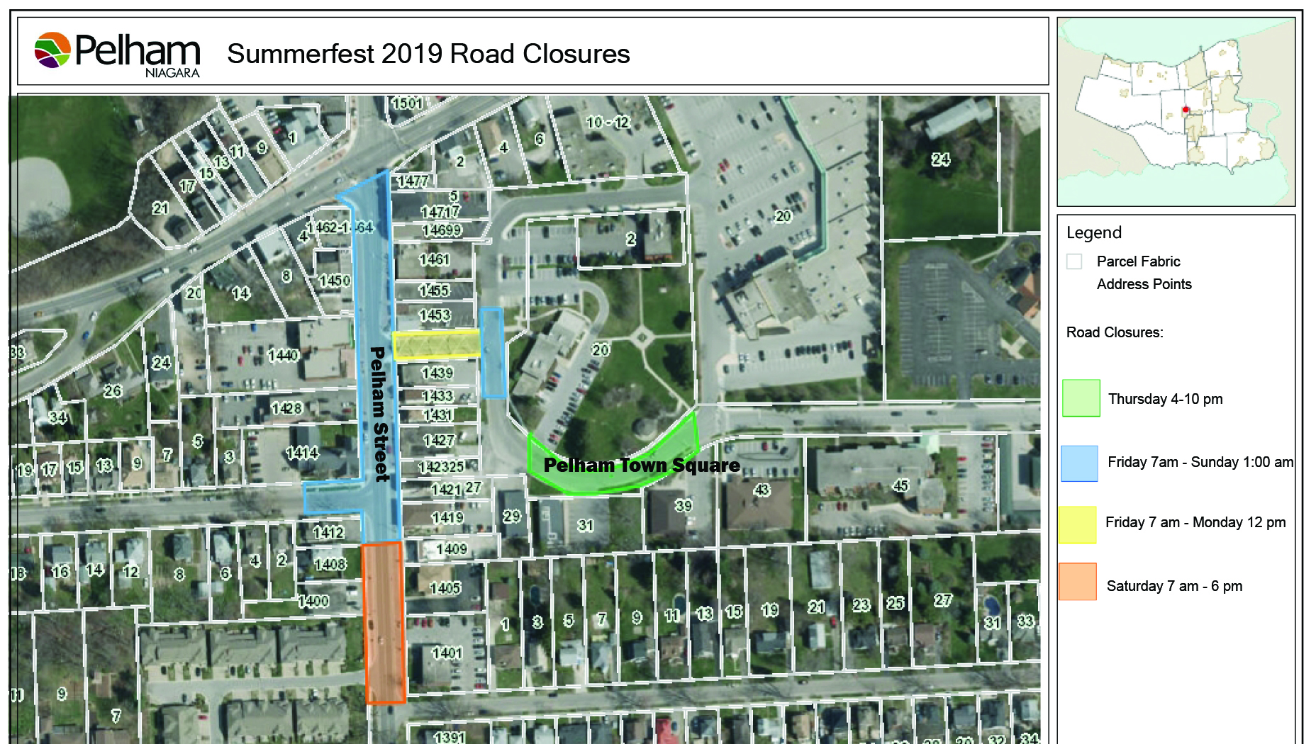 summerfest road closure