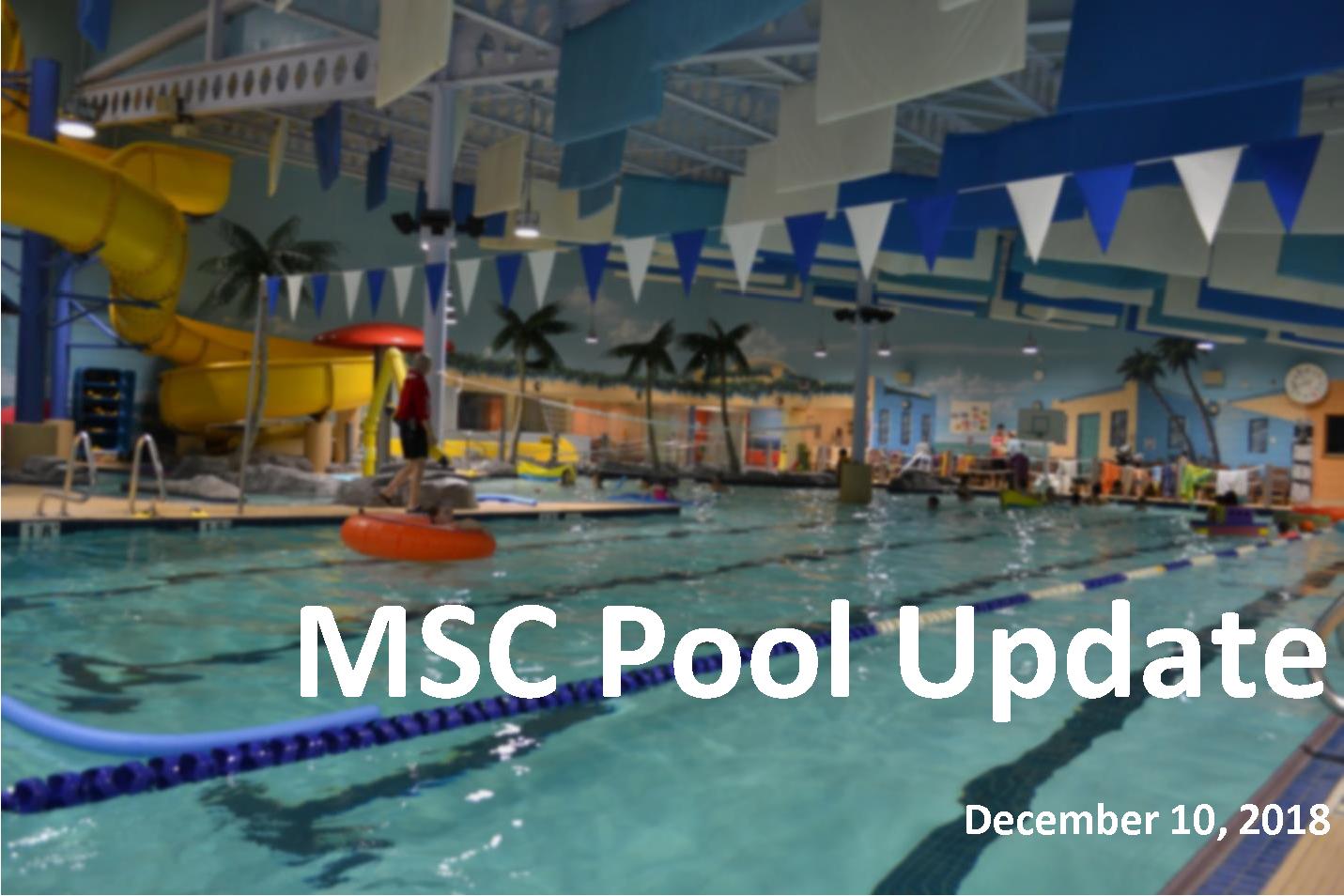 MSC Pool Update - December 10, 2018