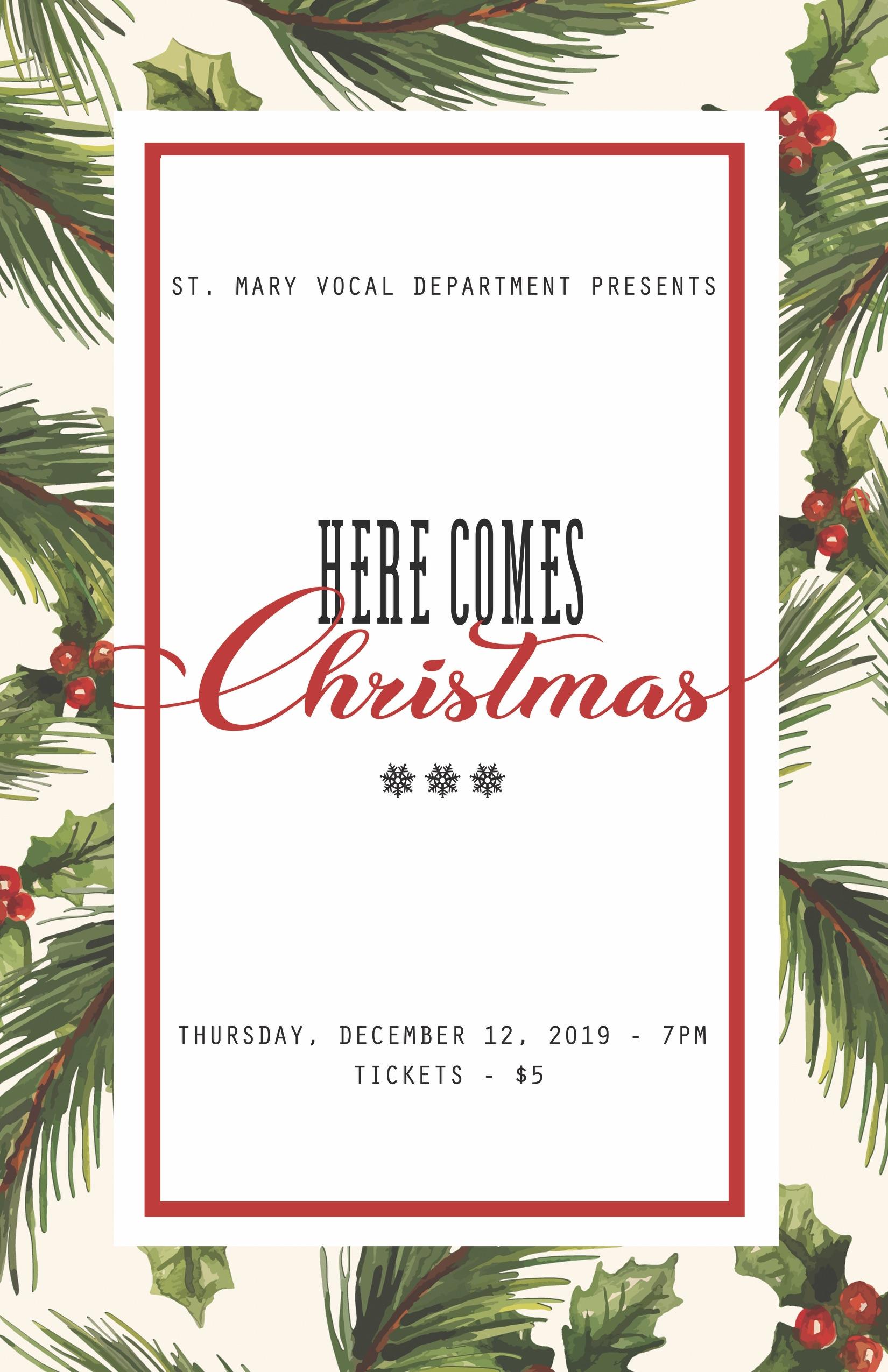Vocal Christmas Concert 2019