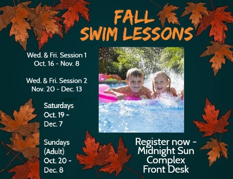 Fall Swim Lesson Schedule