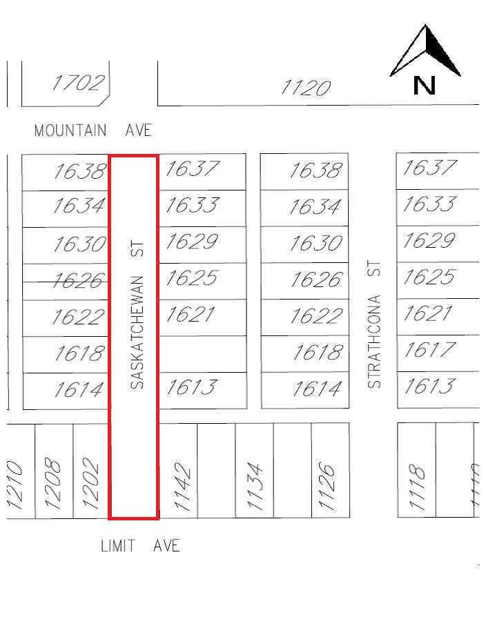 Saskatchewan Street Road Closure Map