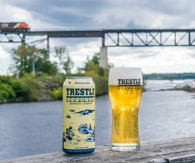 Trestle Golden Ale Beer and Glass