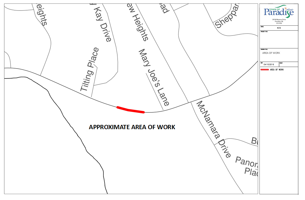 Topsail Road Lane Closure