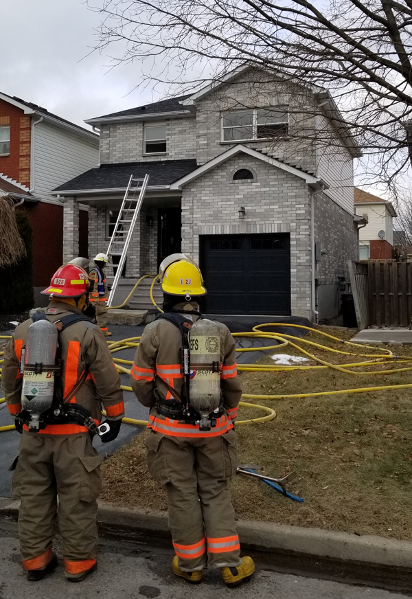 Clarington Emergency and Fire Services responded to a house fire in Bowmanville