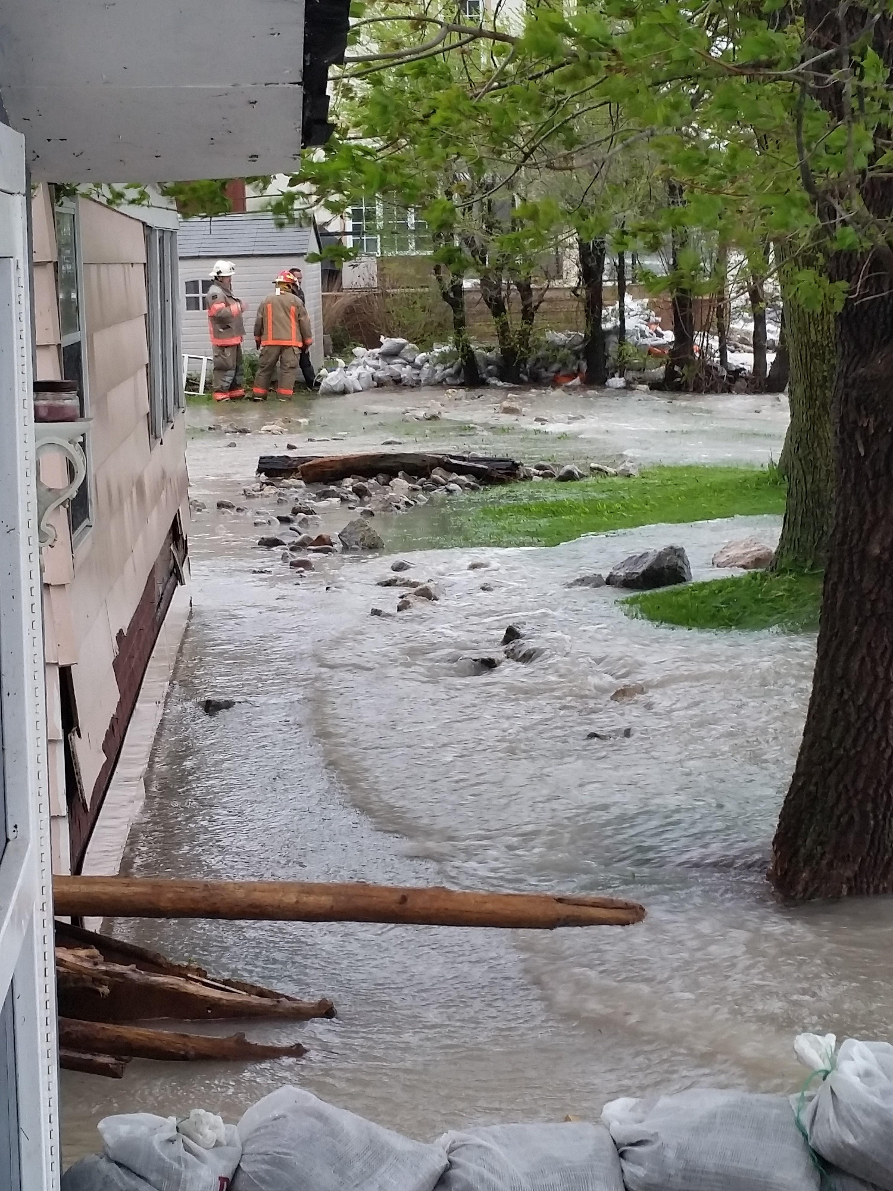 Flood waters at Cedar Crest Beach area