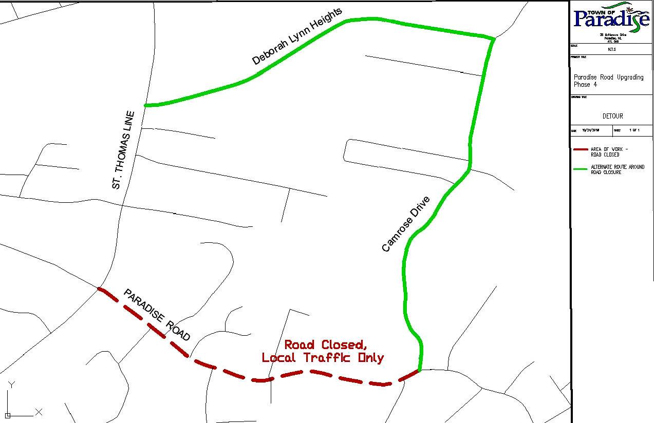 Detour Paradise Road Upgrading Phase 4 - April 21, 2021