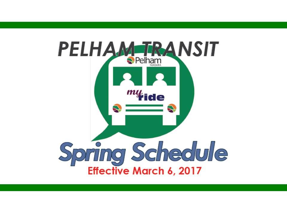 Pelham Transit Spring Schedule