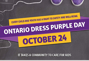 Purple shoes and Dress Purple Day is October 24