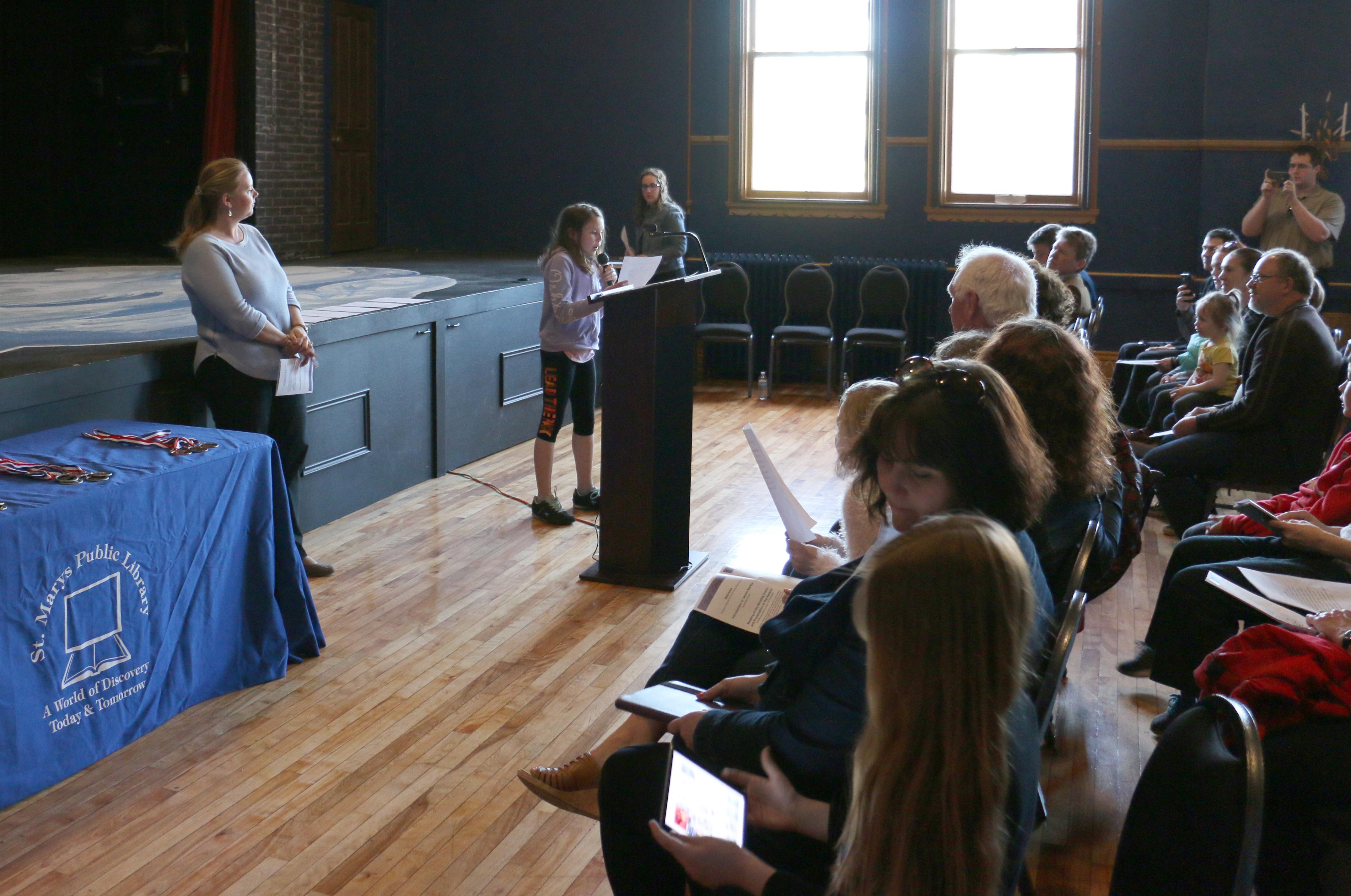 Poetry Contest Town Hall Auditorium