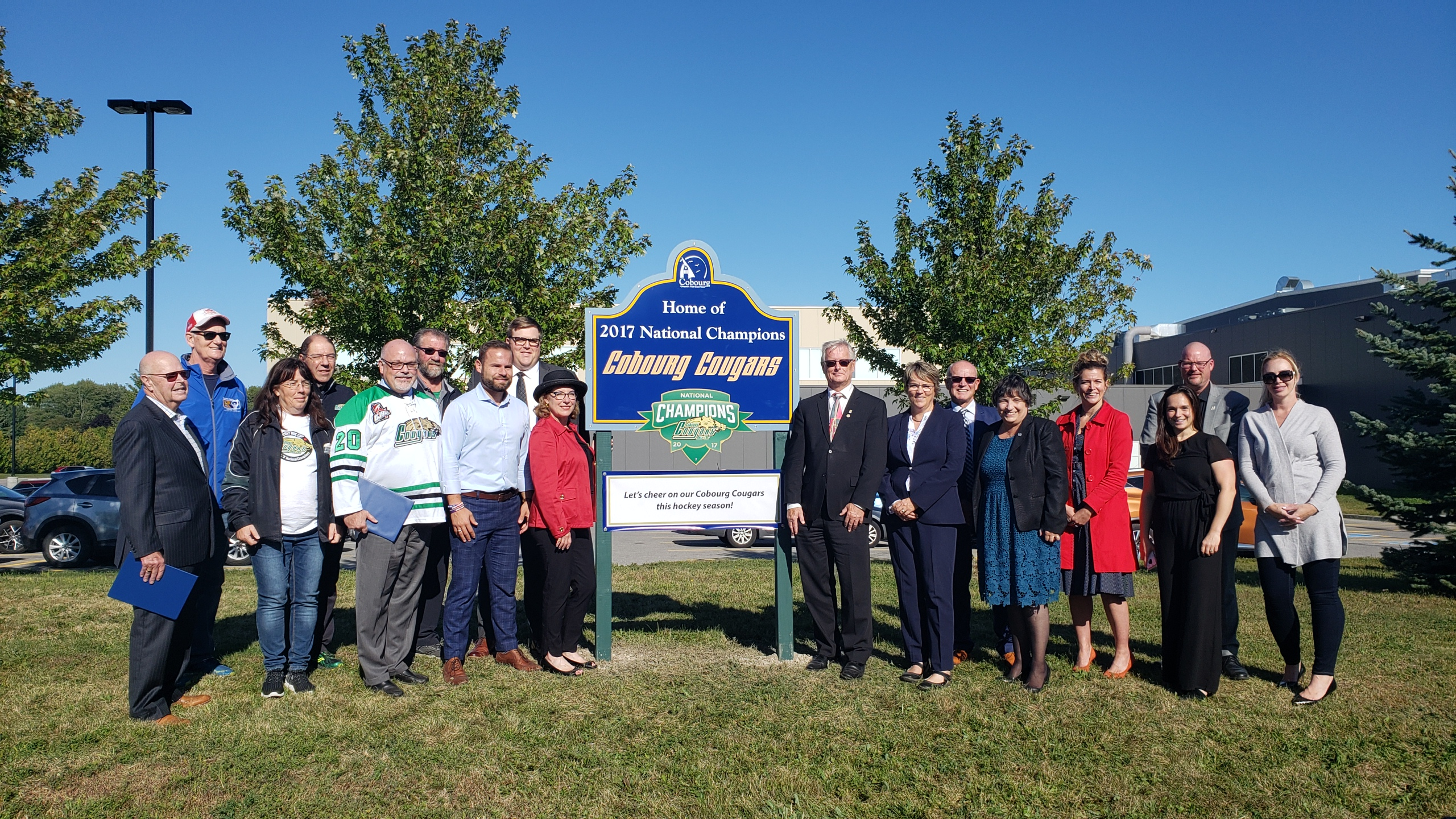 Cobourg Cougar Sign Unveiling_Group Photo