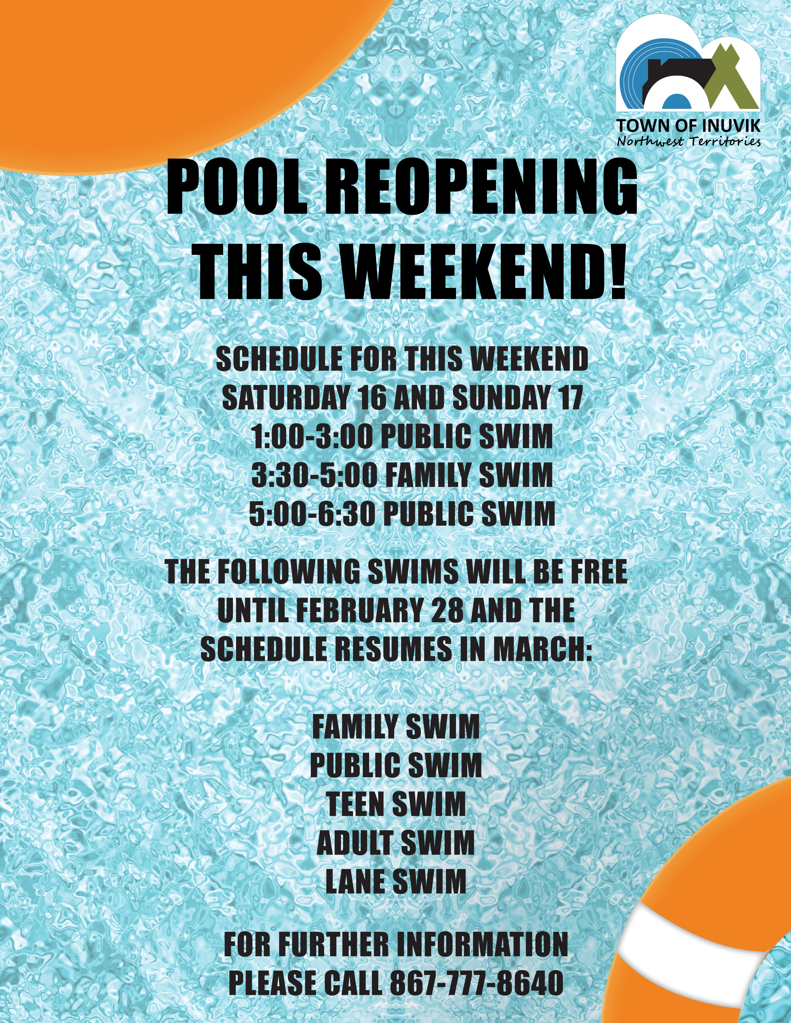 Pool Opening Poster