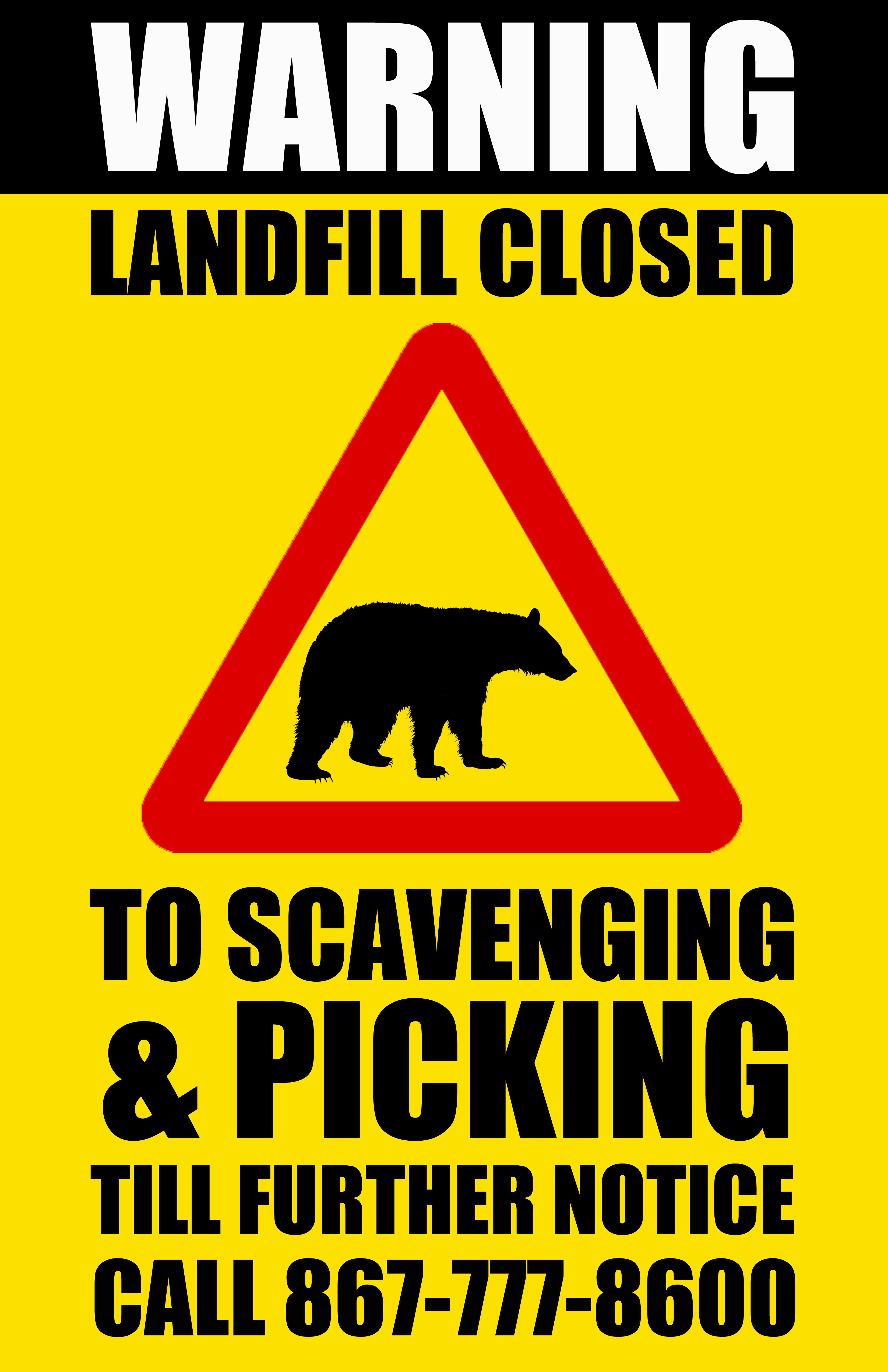 Landfill Closed for Scavenging