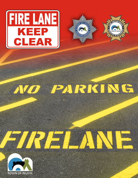 Parking In Fire Lanes Is Prohibited