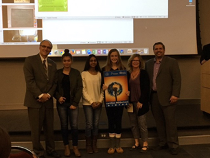 Students holding the Gold Level status award for EcoSchools