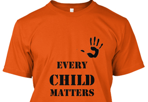 Orange t-shirt that says Every Child Matters