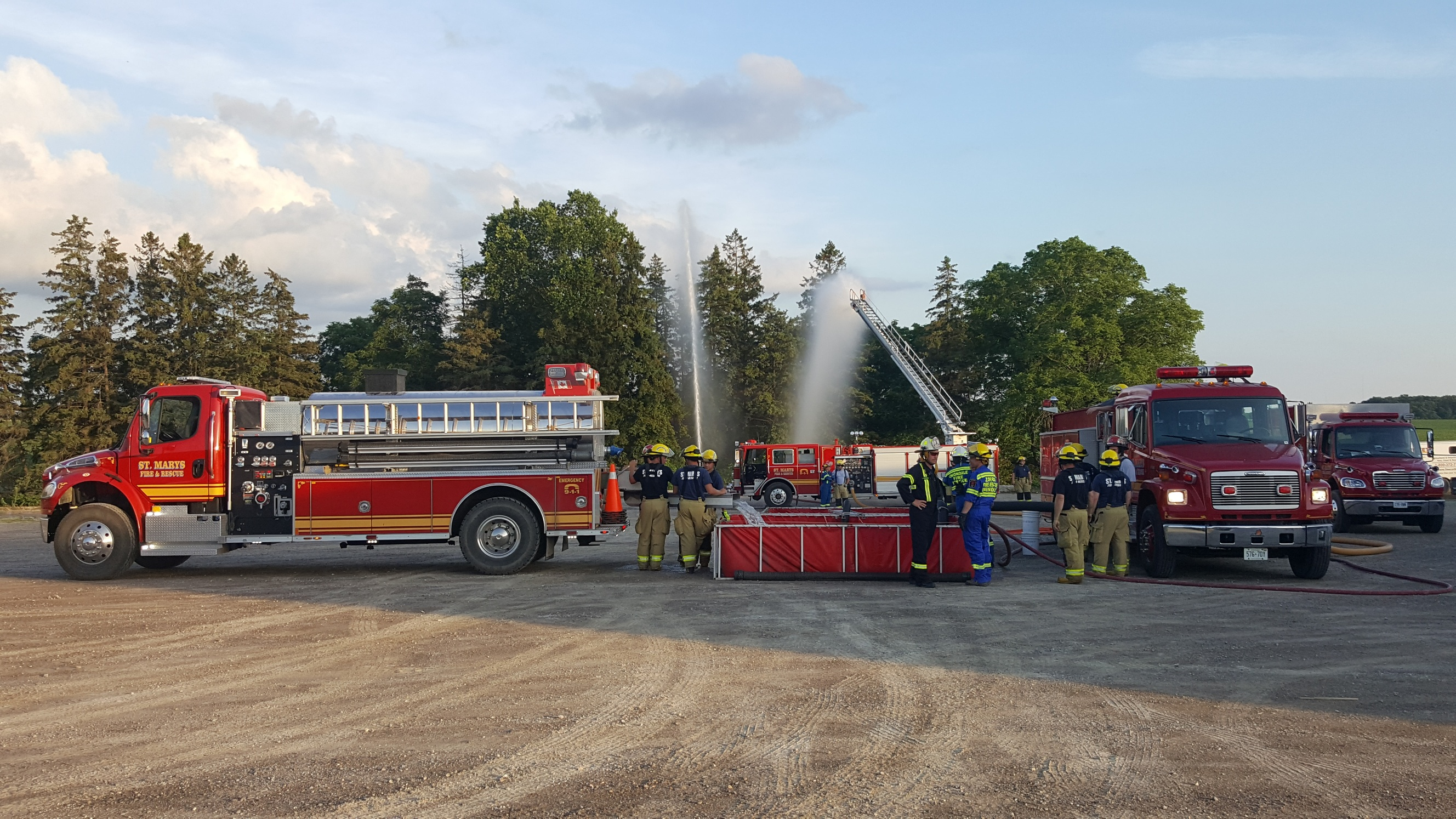 St Marys and Zorra firefighters training