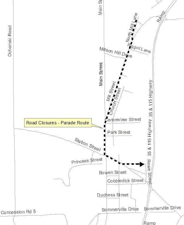 Orono Santa Claus Parade Route