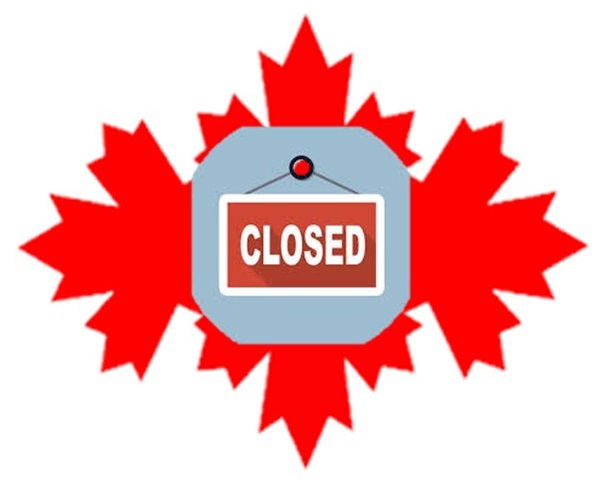 Offices closed Canada Day