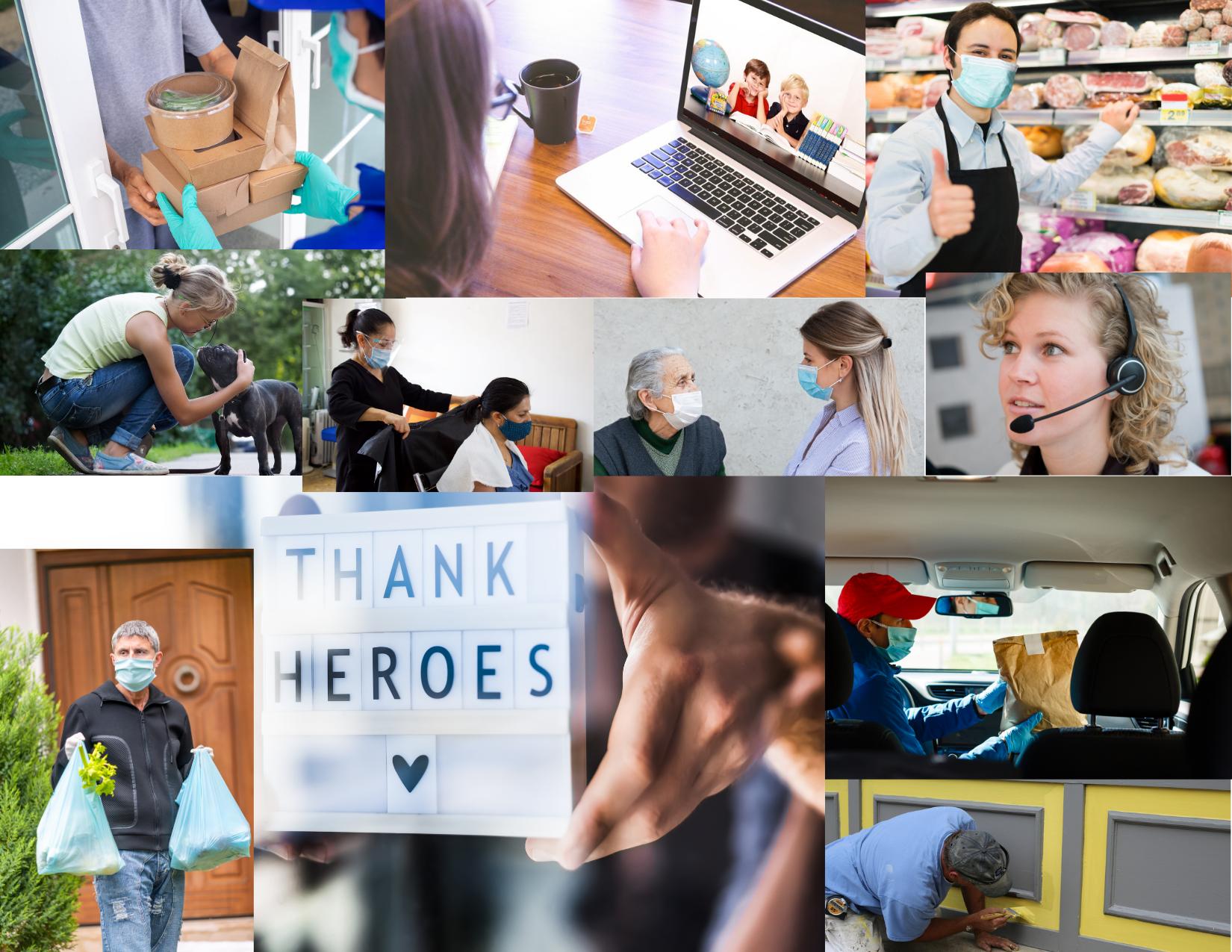 collage of various people from the community_nurses_volunteers_workers