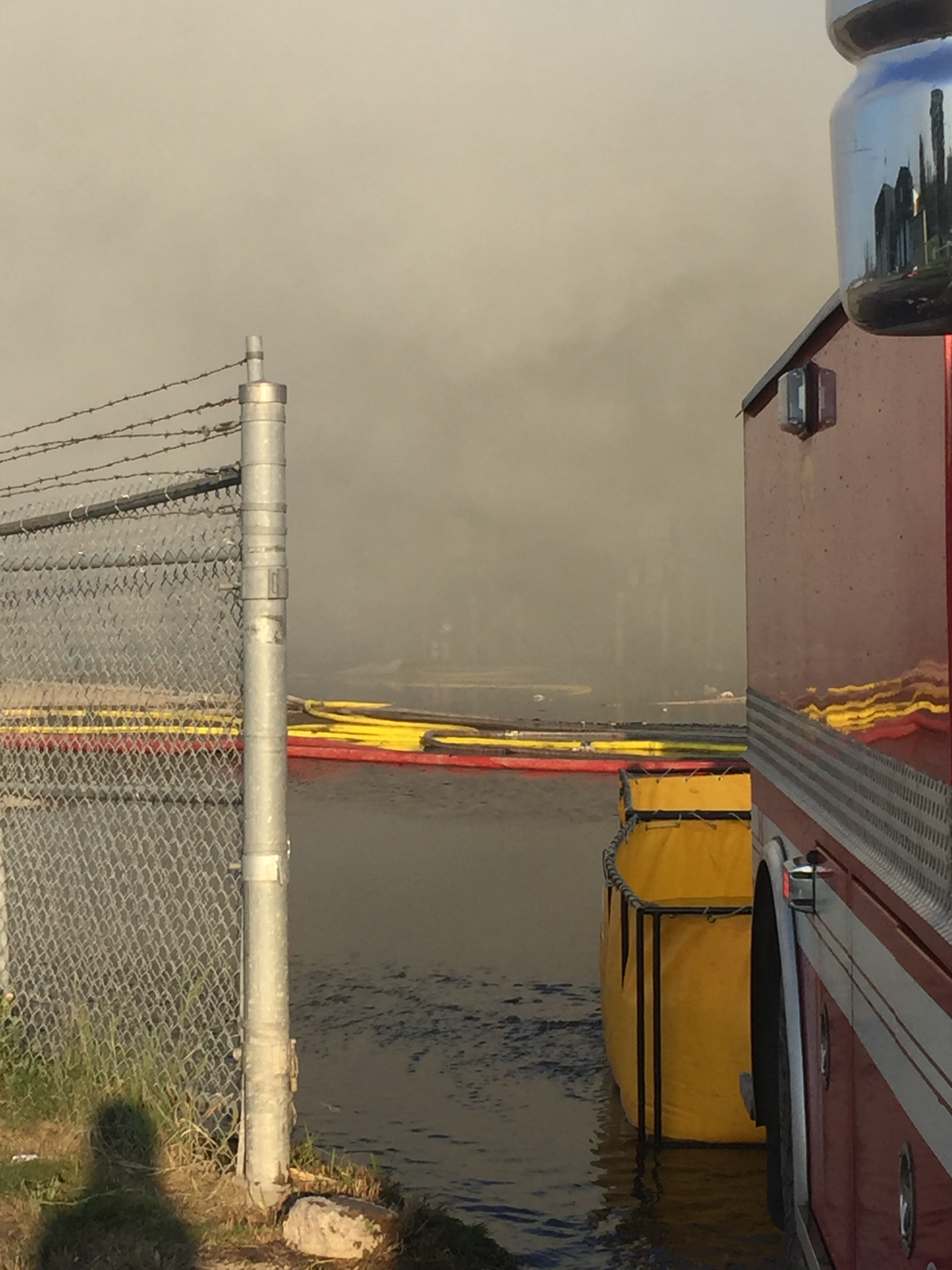 Fire at Waste Management Facility