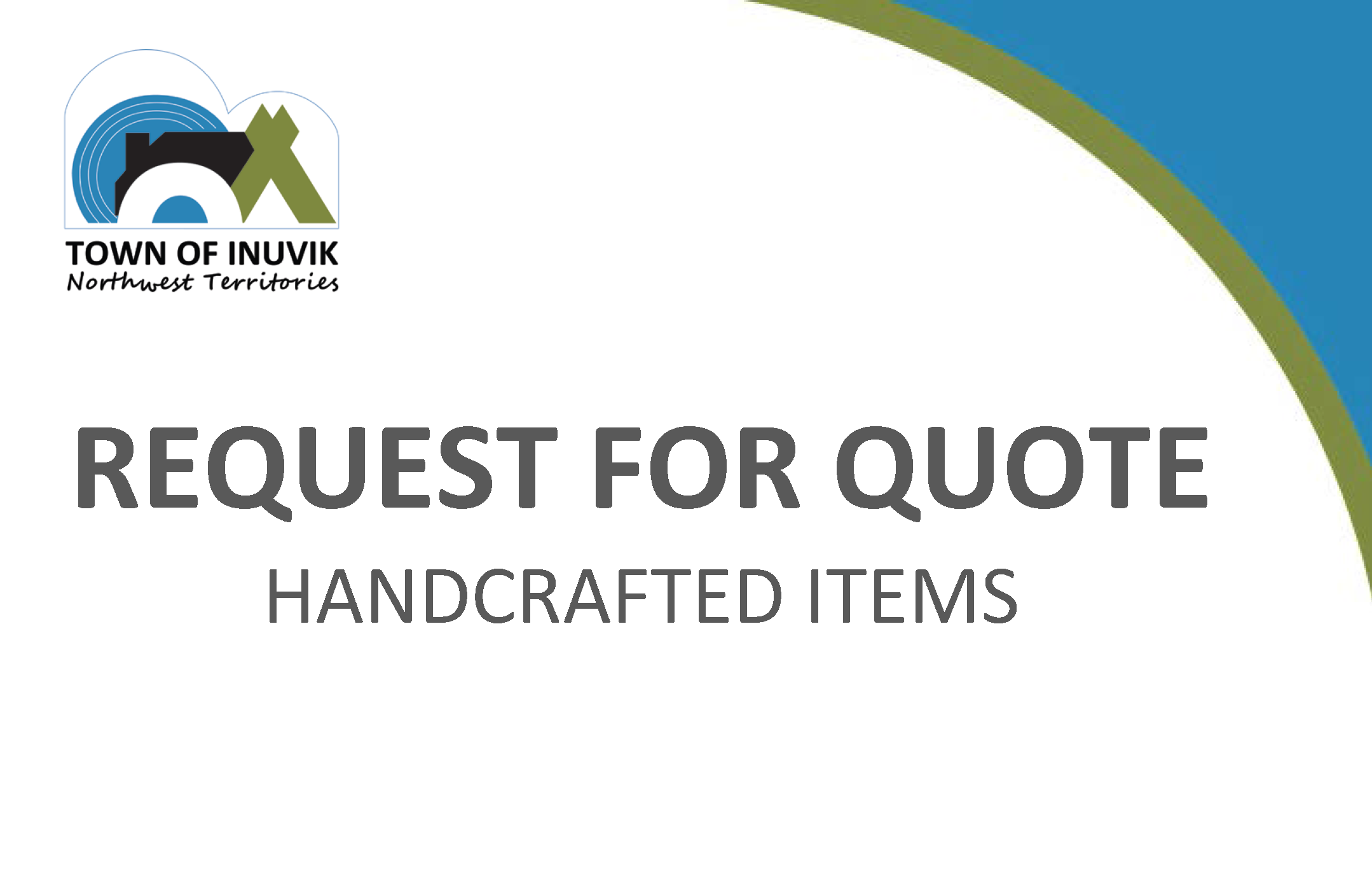RFQ - HANDCRAFTED ITEMS
