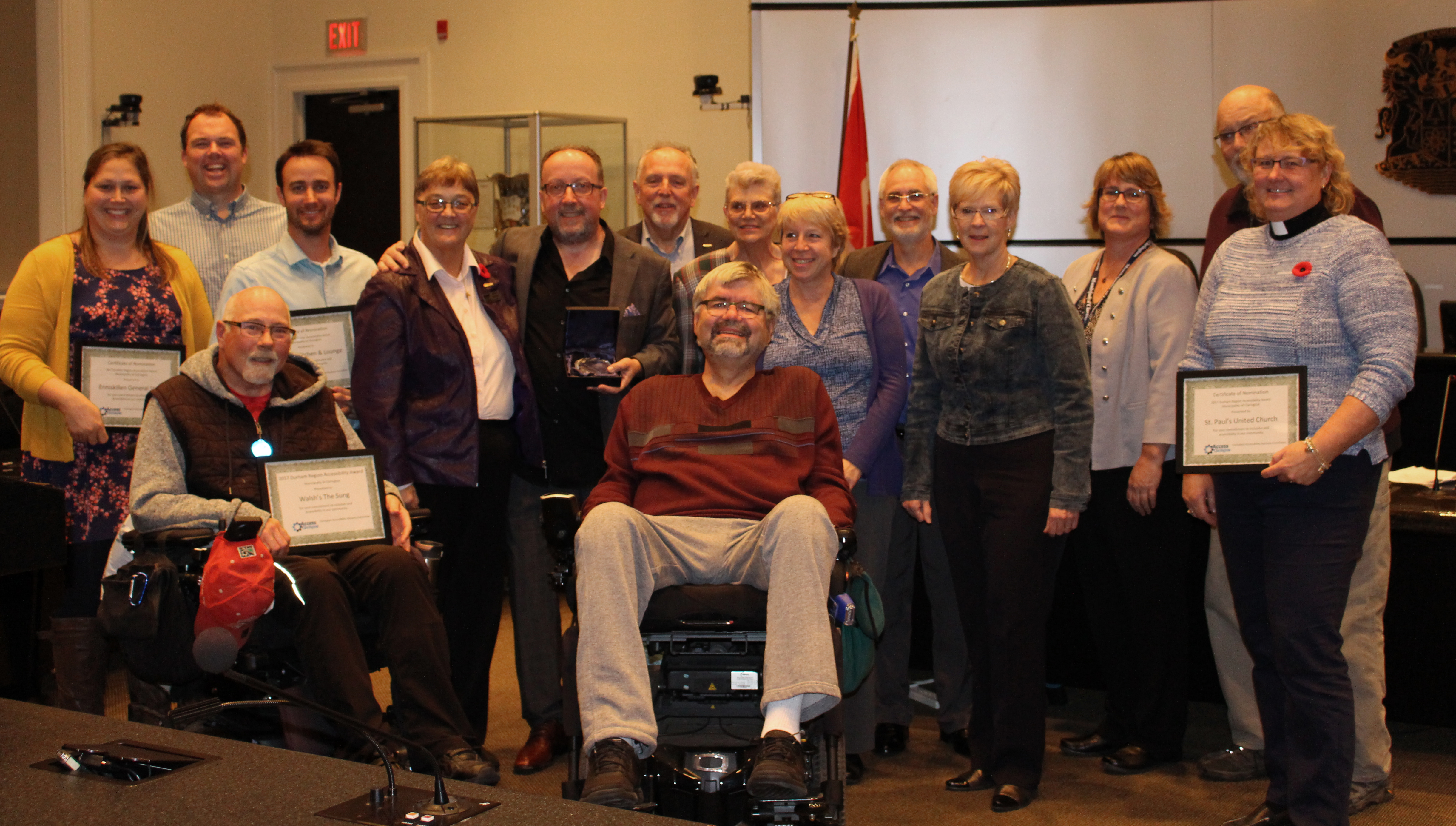 Recognition ceremony for local businesses committed to inclusion and accessibility