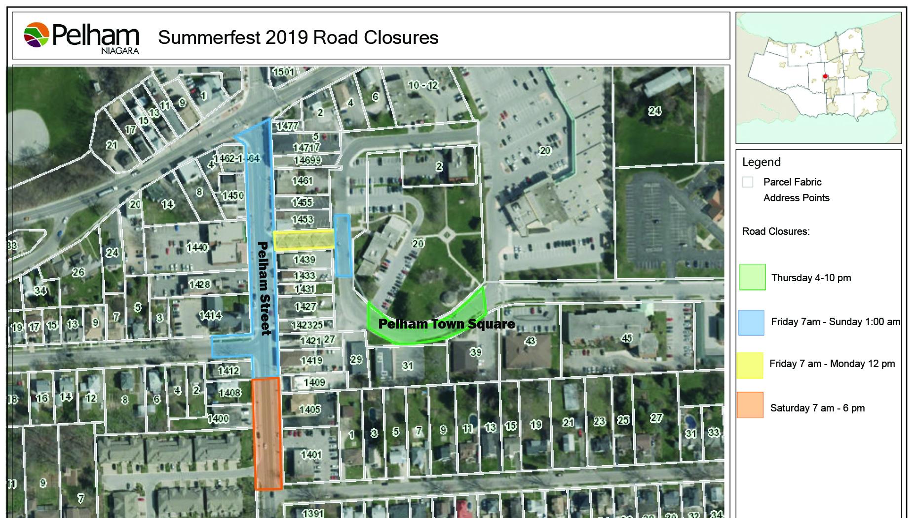 summerfest road closure