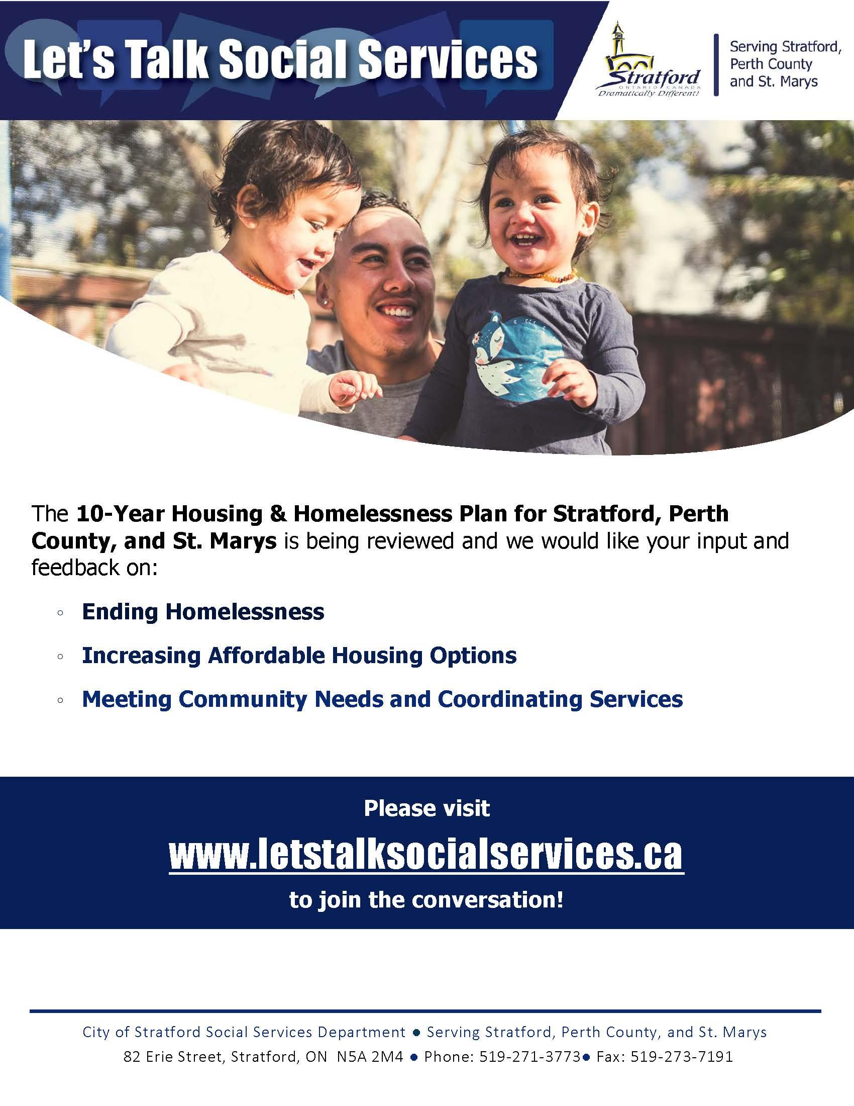 Lets Talk Social Services Poster