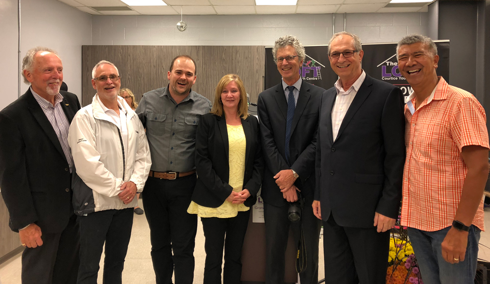 Photo (left to right): Councillor Ron Hooper; Mayor Adrian Foster; Chris Newman, Youth Centre Coordinator, John Howard Society of Durham; Dianna Eastwood, Executive Director, John Howard Society of Durham; Councillor Joe Neal; Joseph Caruana, Director of Community Services, Municipality of Clarington; Councillor Willie Woo