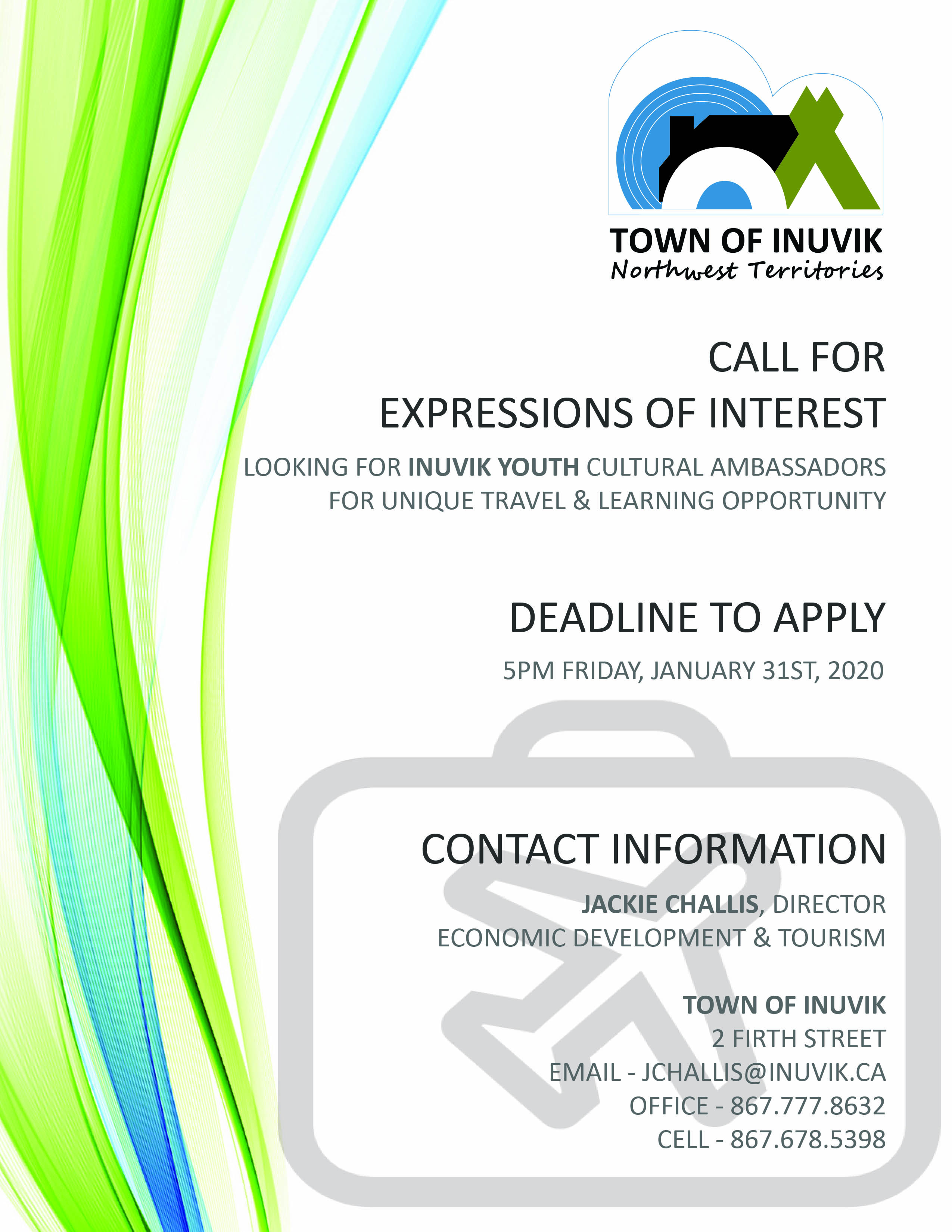 CALL FOR EXPRESSIONS OF INTEREST - INUVIK YOUTH - COVER