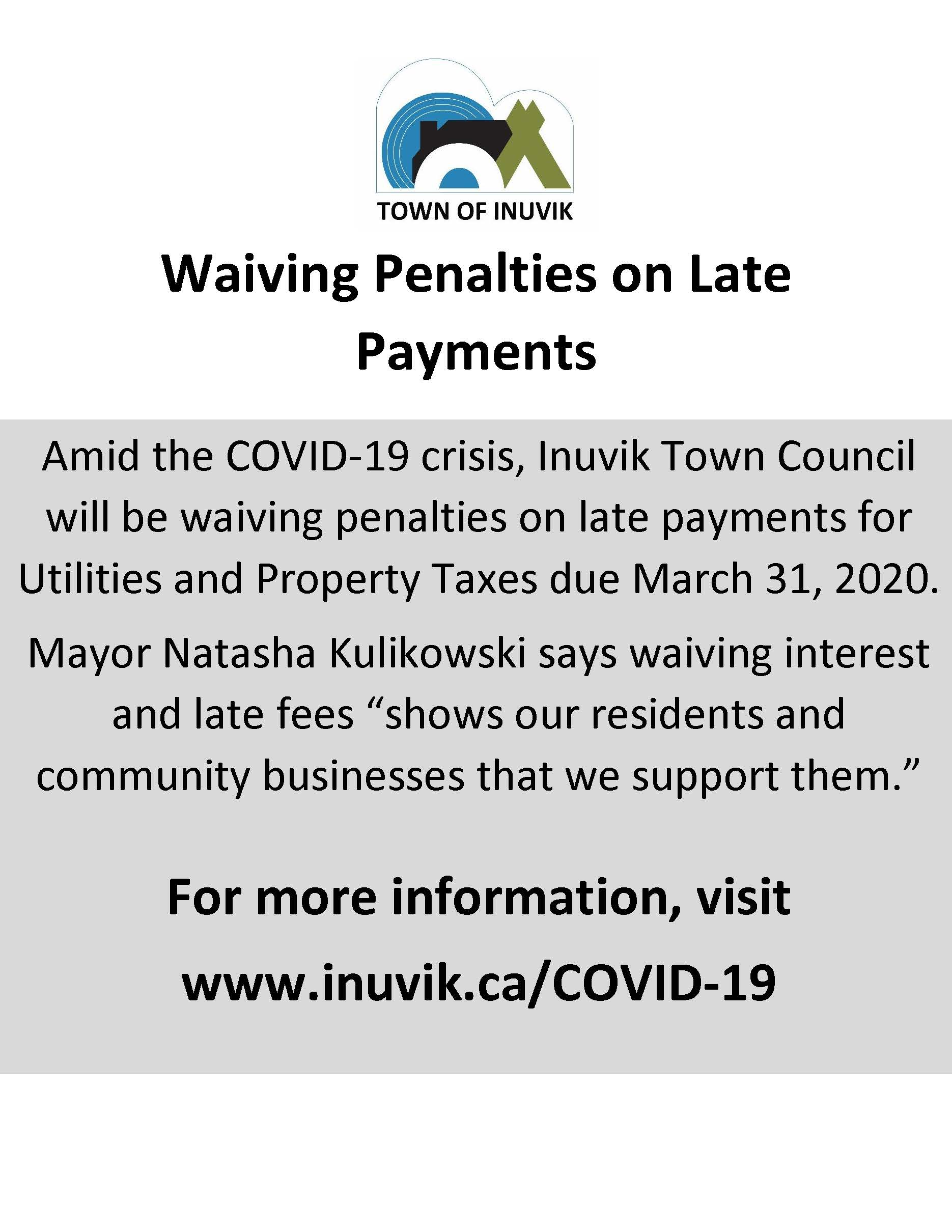 Mar 30 - Late Fee and Interest Waiver