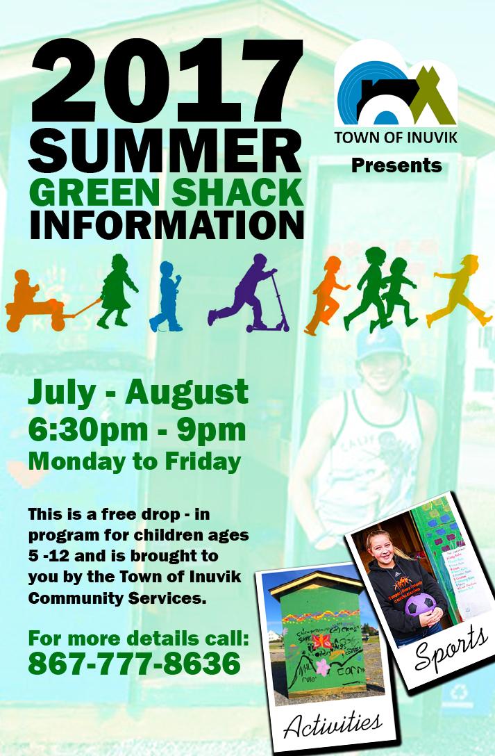 2017 Summer Green Shack Information