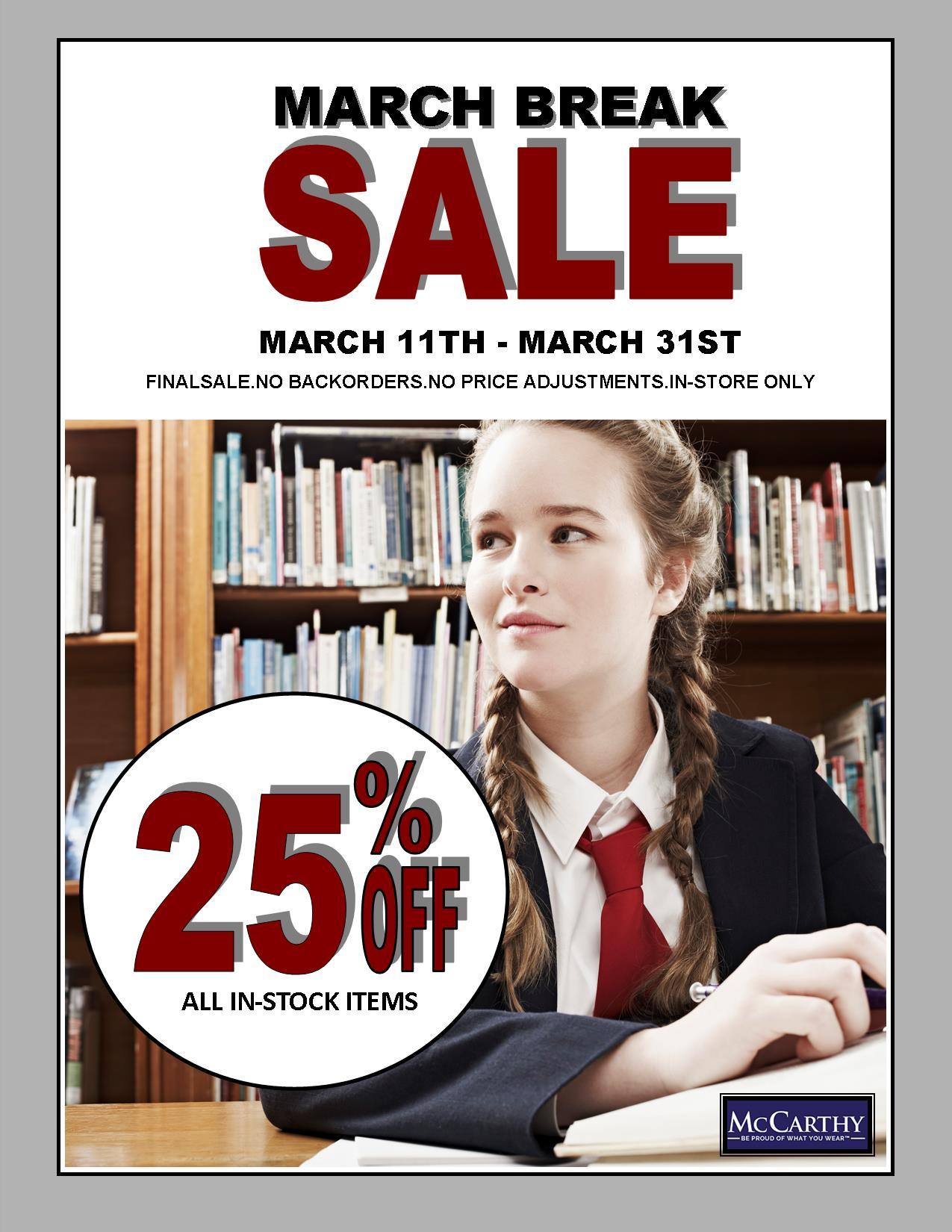 McCarthy's Uniform Sale