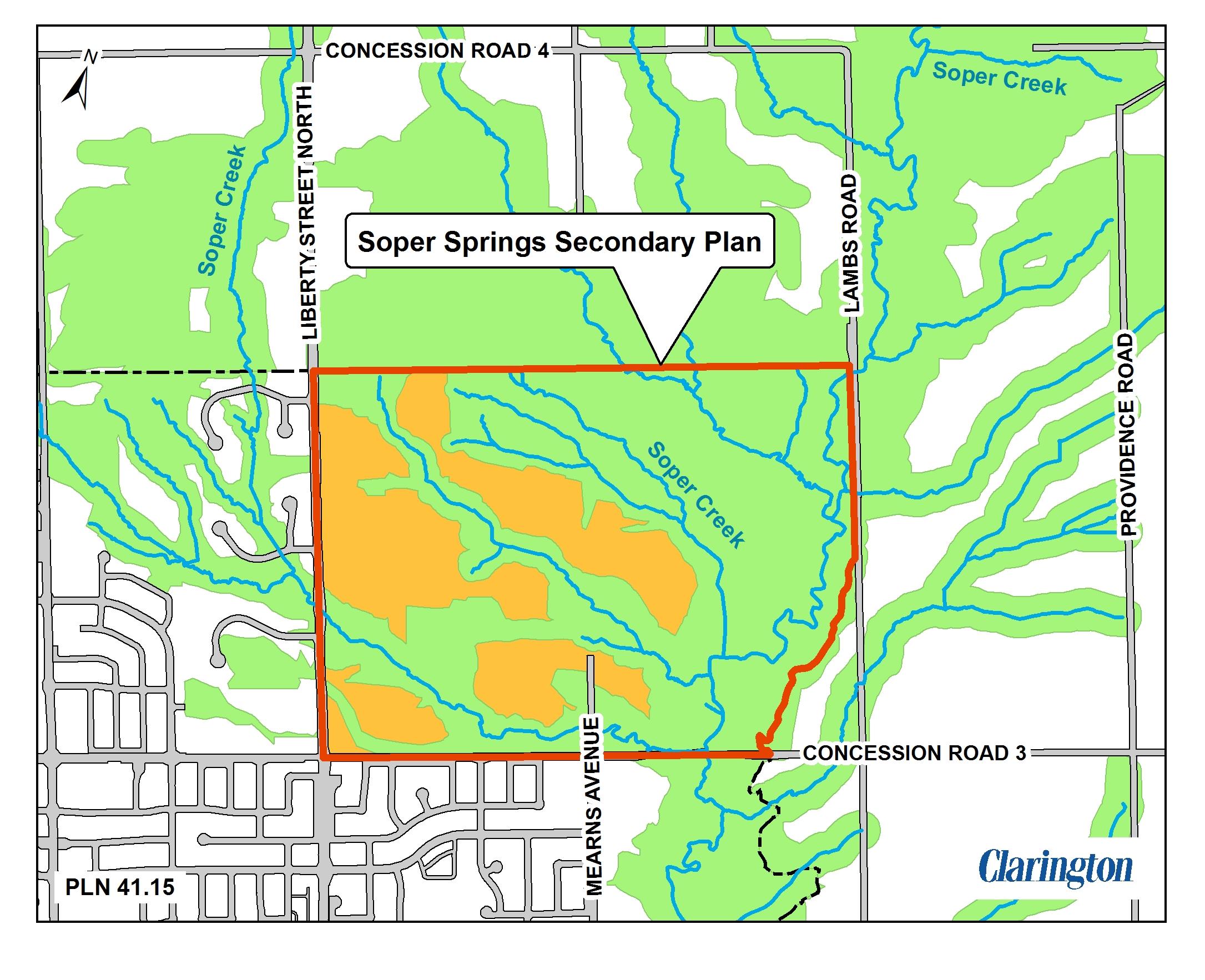 Soper Springs Map