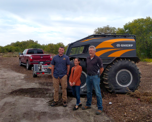 Evgeny Astakhov, April McNamara, Manager of Parks and Recreation, Peter Brown, Director of Public Works and SHERP