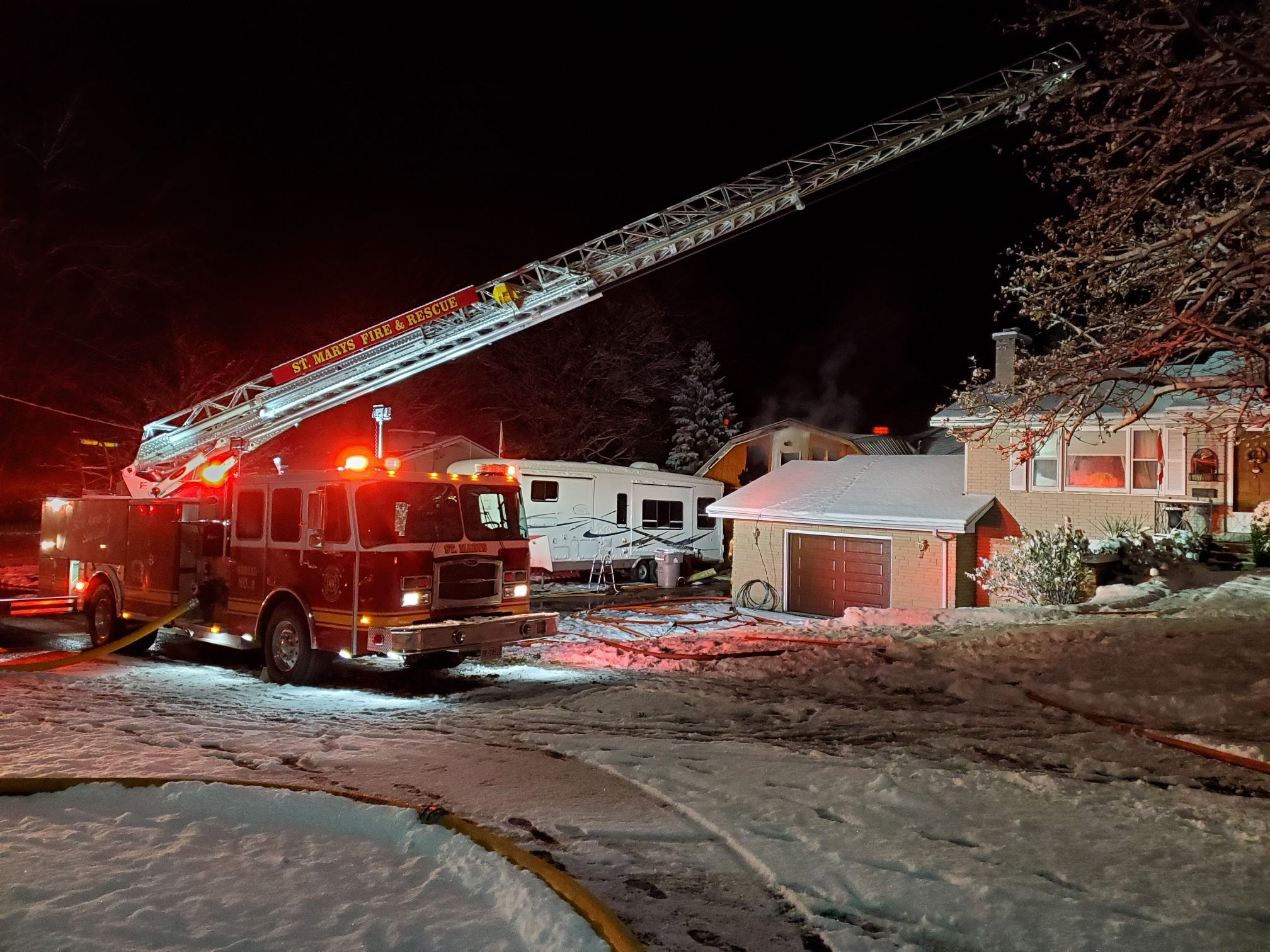 Ladder truck in use 2019