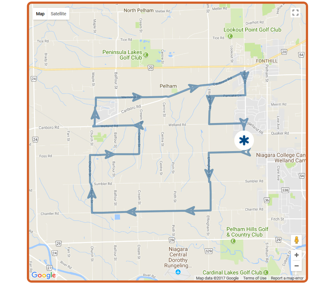 Screenshot-2017-9-28 Ride for Refuge 2017 - Niagara Region 25km Map