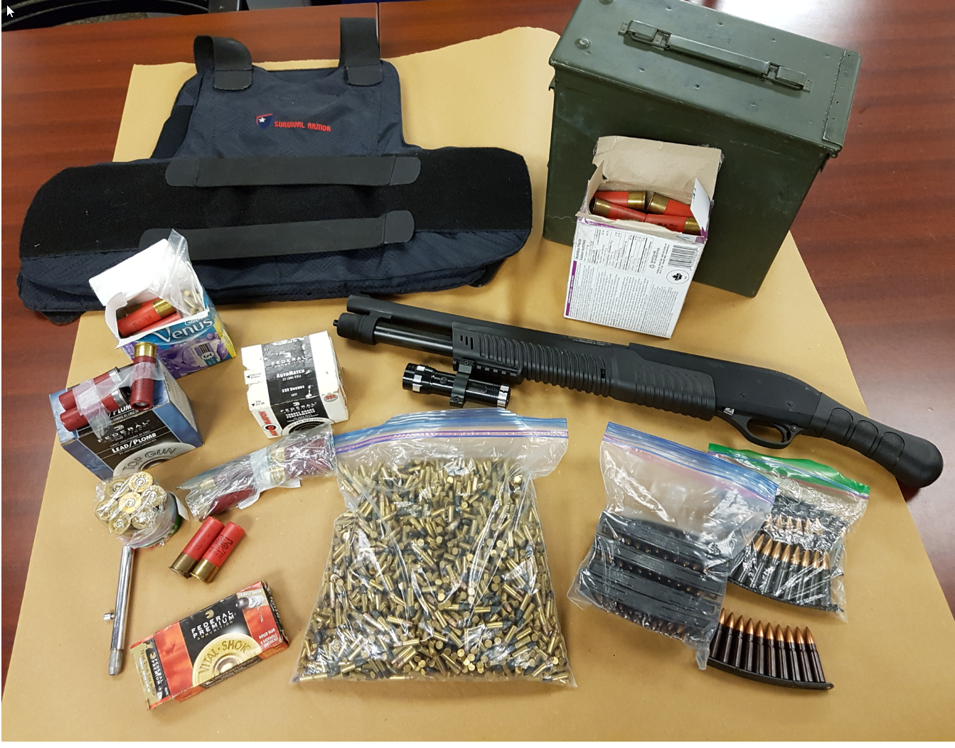 This is an image of the seized items
