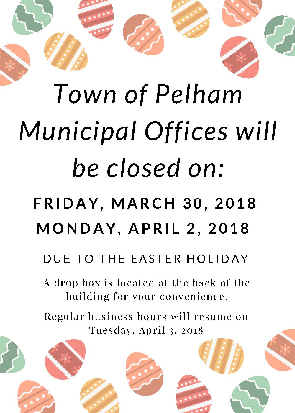 Easter Closure 2018
