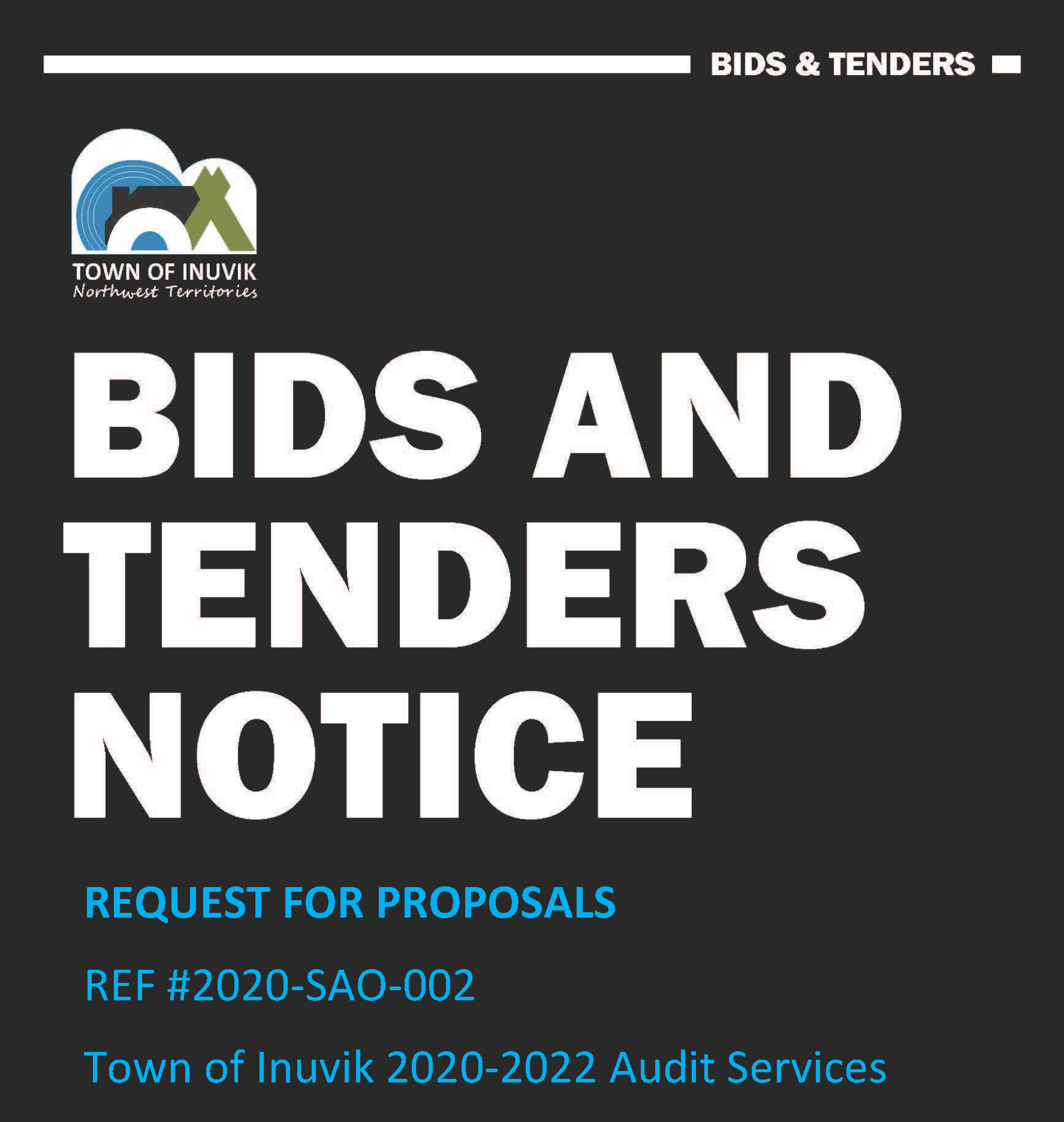 Bids & Tenders - 2020-2022 Audit Services