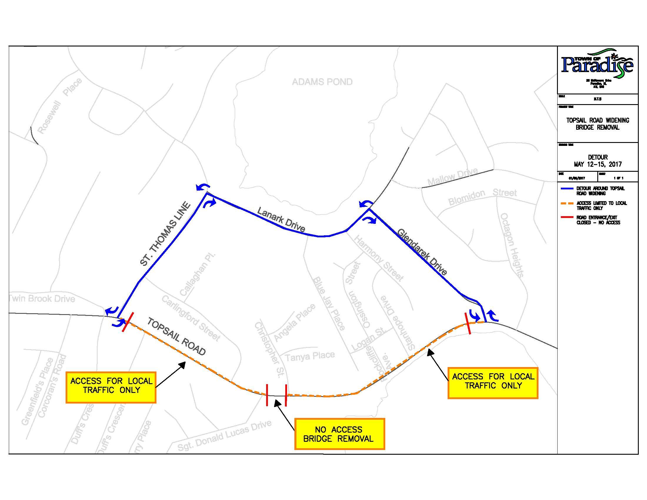 Road Closure Detour Route