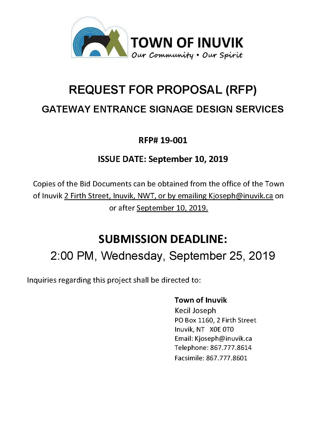Request For Proposal - Gateway Signage