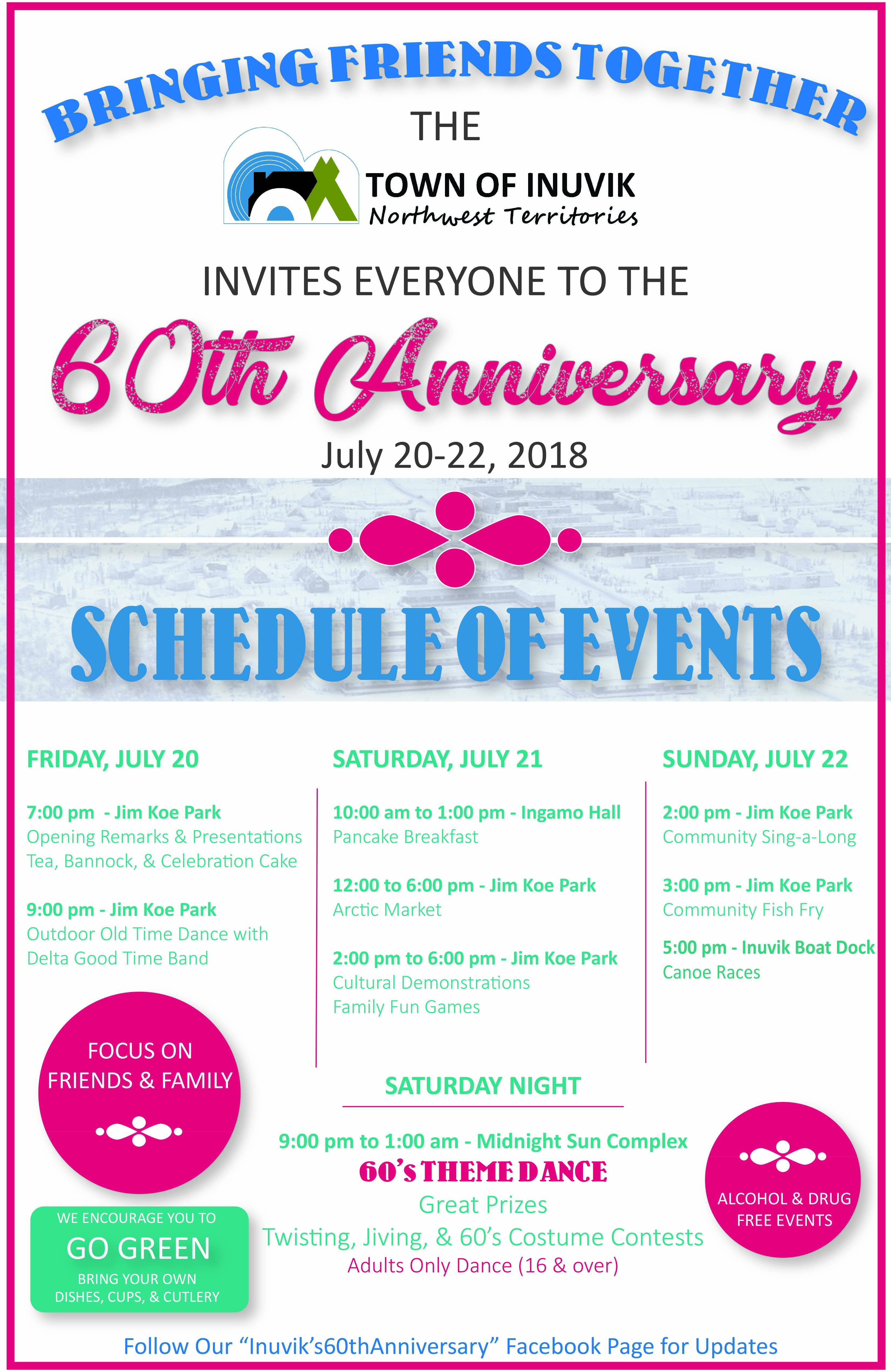 Town of Inuvik 60th Anniversary July 20 - 22, 2018