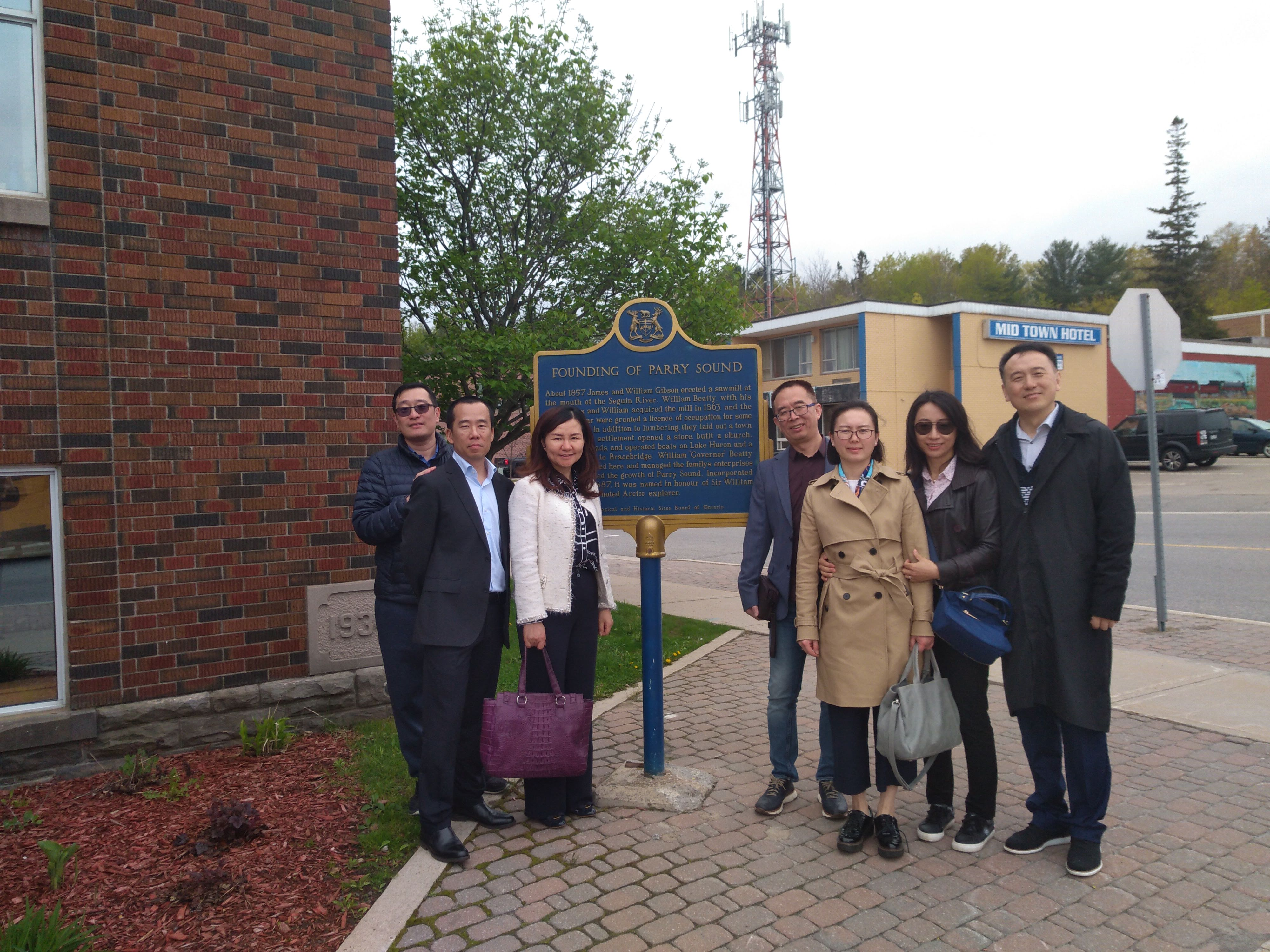 Chinese business visitors at the Parry Sound Townhall