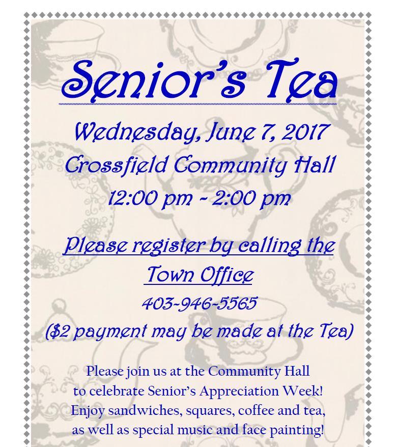 Seniors Tea