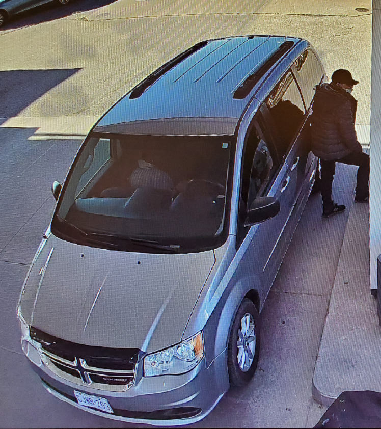 This is an image of the suspect and vehicle